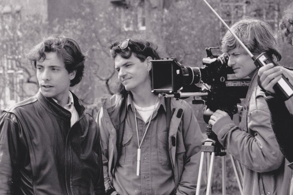 "Bruno Lazaro (left) shooting ""The Traveller"""